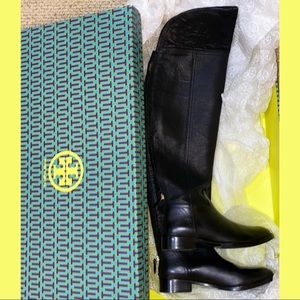 NEW Tory Burch Black Over-the-knee Boots Size 7.5